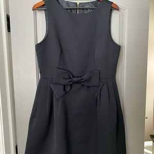 Tahari black dress with bow in front